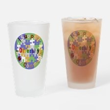 Support Diversity in My Community Drinking Glass