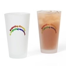 Respecting Diversity Drinking Glass