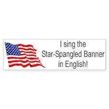 National Anthem Bumper Bumper Sticker