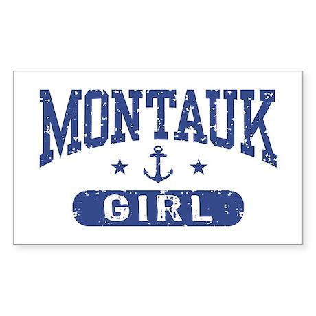 Montauk Girl Sticker (Rectangle)