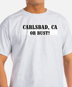 Carlsbad or Bust! Ash Grey T-Shirt