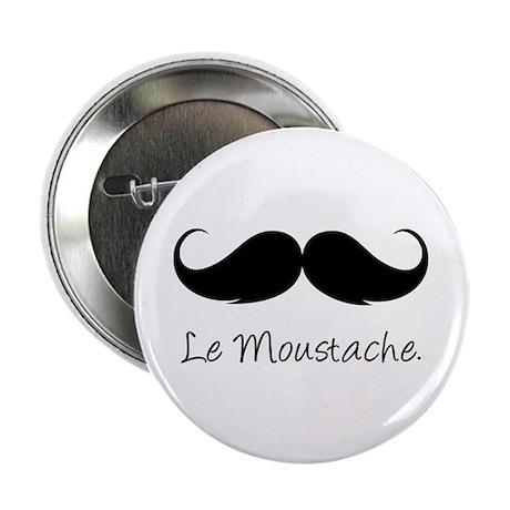 """Le Moustache. 2.25"""" Button (10 pack)"""