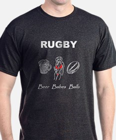 Rugby: Beer Babes Balls T-Shirt
