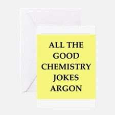 i love chemistry Greeting Card