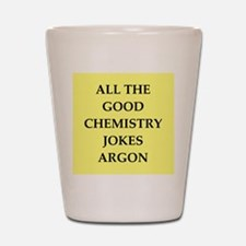 i love chemistry Shot Glass