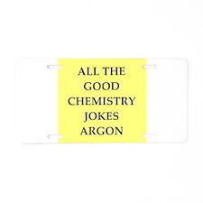 i love chemistry Aluminum License Plate