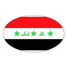 Iraqi Flag Oval Decal