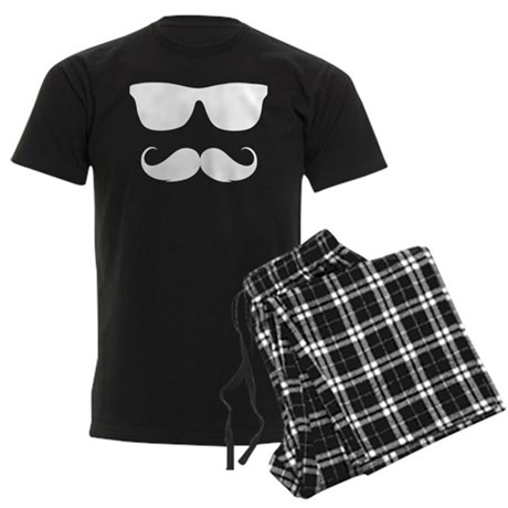 cool moustache Men's Dark Pajamas