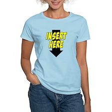 Insert Here Down Arrow Front T-Shirt