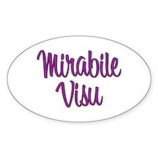 Mirabile Visu! Oval Decal
