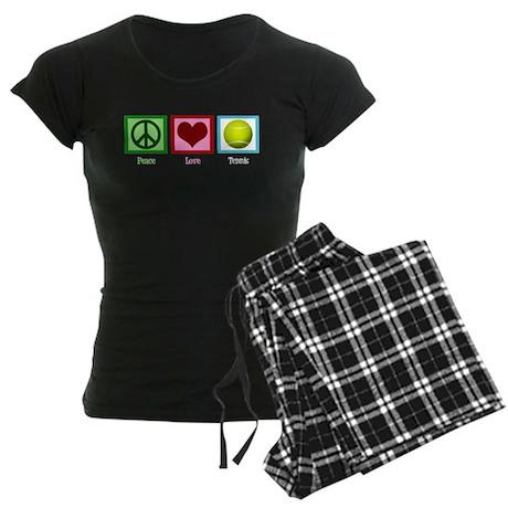 Peace Love Tennis Women's Dark Pajamas