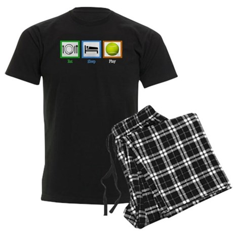 Eat Sleep Tennis Men's Dark Pajamas