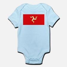 Isle of Man Flag Infant Creeper