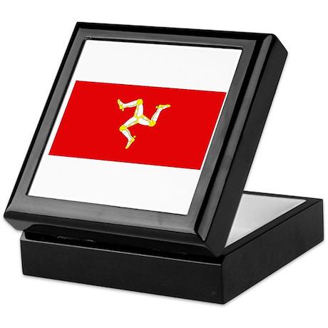 Isle of Man Flag Keepsake Box