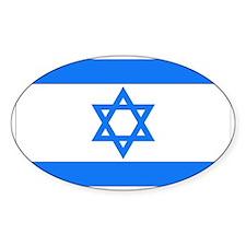 Israeli Flag Oval Decal