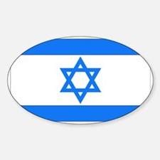Israeli Flag Oval Decal
