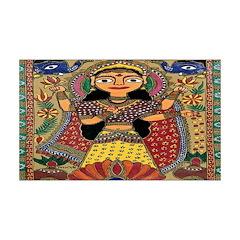 Woman of India 38.5 x 24.5 Wall Peel