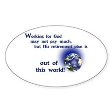 Working For God Decal