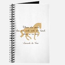 da Vinci spirit sayings - horse Journal