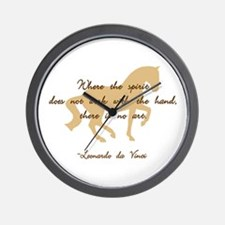 da Vinci spirit sayings - horse Wall Clock