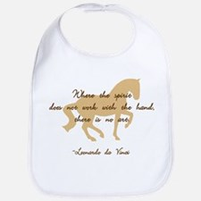 da Vinci spirit sayings - horse Bib