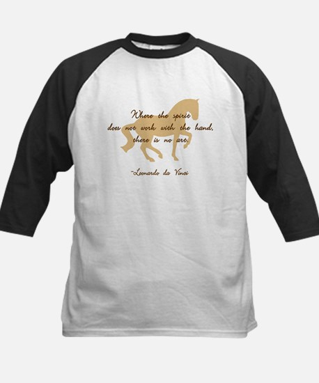 da Vinci spirit sayings - horse Kids Baseball Jers