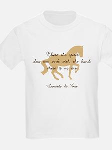 da Vinci spirit sayings - horse Kids T-Shirt