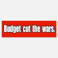 Budget Cut the Wars Peace Bumper Bumper Bumper Sticker
