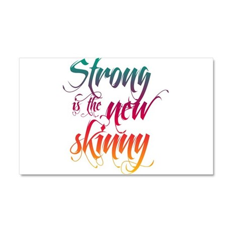 Strong is the New Skinny - Sc Car Magnet 20 x 12