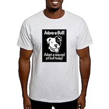 Adore-A-Bull 2! Ash Grey T-Shirt