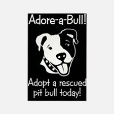 Adore-A-Bull 2! Rectangle Magnet