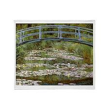 Claude Monet Throw Blanket
