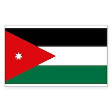 Jordanian Flag Rectangle Decal