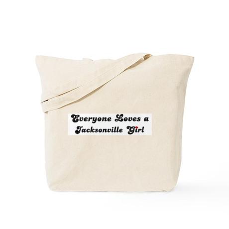 Loves Jacksonville Girl Tote Bag