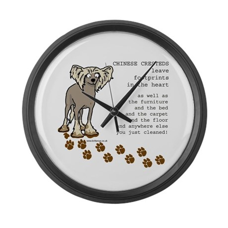Chinese Crested's Large Wall Clock