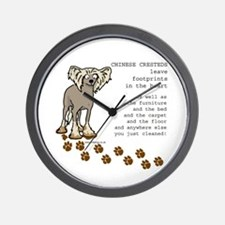 Chinese Crested's Wall Clock