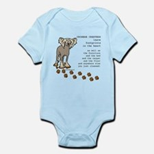 Chinese Crested's Infant Bodysuit
