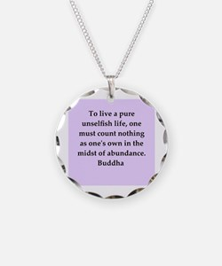 Buddha wisdom Necklace Circle Charm