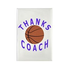 Thank You Basketball Coach Rectangle Magnet