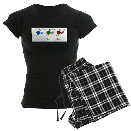 Eat sleep knit Women's Dark Pajamas