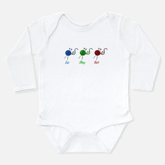 Eat sleep knit Long Sleeve Infant Bodysuit