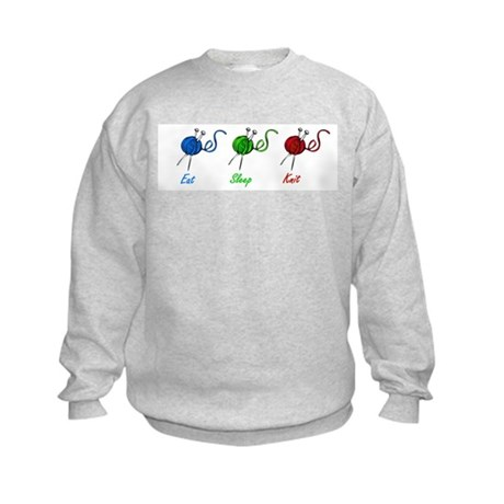 Eat sleep knit Kids Sweatshirt