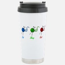 Eat sleep knit Stainless Steel Travel Mug