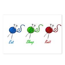 Eat sleep knit Postcards (Package of 8)