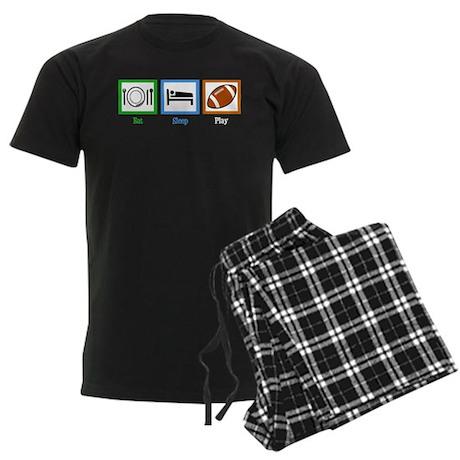 Eat Sleep Football Men's Dark Pajamas