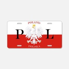 Poland/Polska Aluminum License Plate