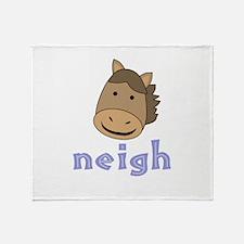 Animal Noises - Horse Neigh Throw Blanket