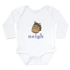 Animal Noises - Horse Neigh Long Sleeve Infant Bod