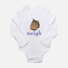 Animal Noises - Horse Neigh Long Sleeve Infant Bod
