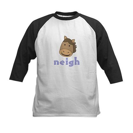 Animal Noises - Horse Neigh Kids Baseball Jersey